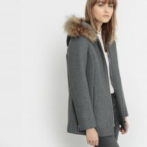 Пальто из шерстяного драпа LAURA KARL MARC JOHN. Цвет: gris