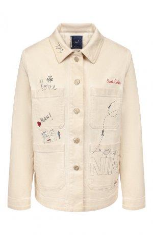 Джинсовая куртка Jacob Cohen. Цвет: бежевый