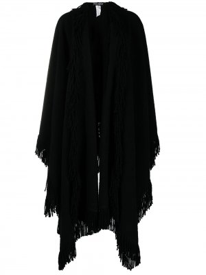 Кейп с бахромой Dolce & Gabbana. Цвет: черный
