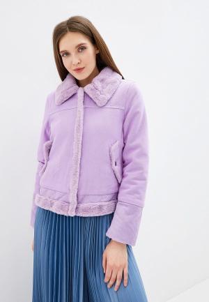 Куртка джинсовая Grand Style. Цвет: фиолетовый
