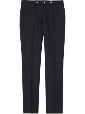 Классические строгие брюки с заклепками Burberry. Цвет: синий