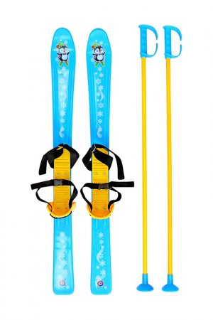 Лыжи детские с палками и крепл RT. Цвет: синий
