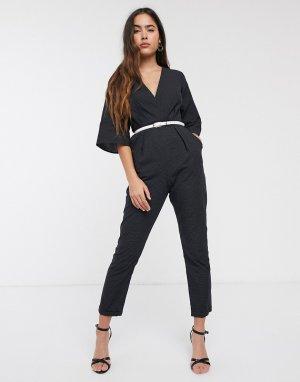 Комбинезон с принтом и узкими штанинами Closet-Черный Closet London