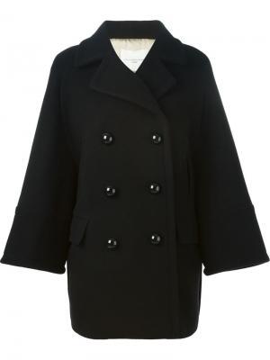 Двубортное пальто Aquilano.Rimondi. Цвет: чёрный