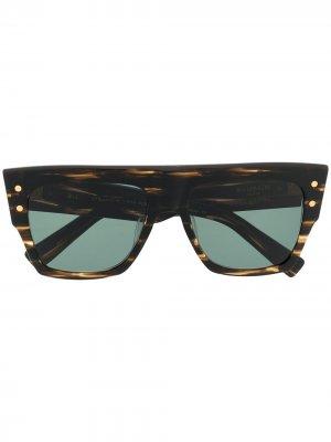 Солнцезащитные очки B-I Balmain Eyewear. Цвет: коричневый