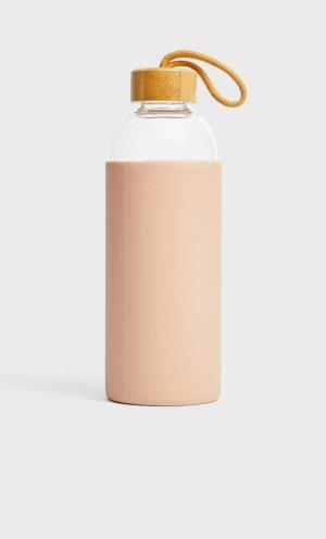 Бутылка Из Силикона Емкостью 1 Л Женская Коллекция Цвет Темной Фуксии 103 Stradivarius. Цвет: цвет темной фуксии