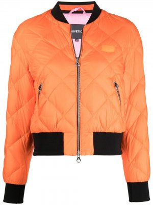 Бомбер-пуховик Duvetica. Цвет: оранжевый