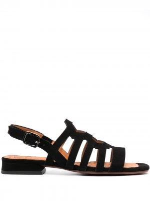 Босоножки на блочном каблуке с ремешками Chie Mihara. Цвет: черный
