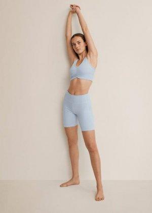 Спортивный бюстгальтер с перекрещенной спинкой - Lindsay Mango. Цвет: небесно-голубой