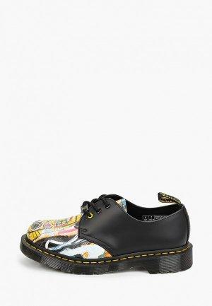 Ботинки Dr. Martens 1461 BASQUIAT-3 Eye Shoe. Цвет: черный