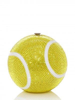Tennis Ball sphere-shaped clutch Judith Leiber. Цвет: metallic