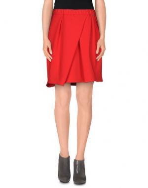 Мини-юбка ANNARITA N. Цвет: красный