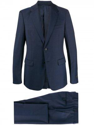Костюм-двойка с однобортным пиджаком Prada. Цвет: синий