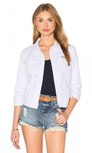 Джинсовая куртка signature Hudson Jeans. Цвет: none
