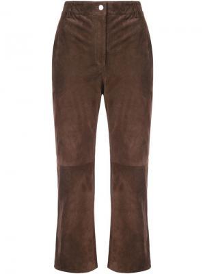 Укороченные брюки с завышенной талией Altuzarra. Цвет: коричневый