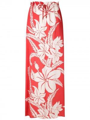 Пляжная юбка макси Amir Slama. Цвет: розовый