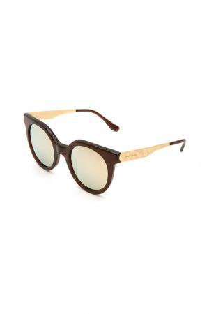 Очки солнцезащитные Italia Independent. Цвет: 044 ace коричневый, золотистый