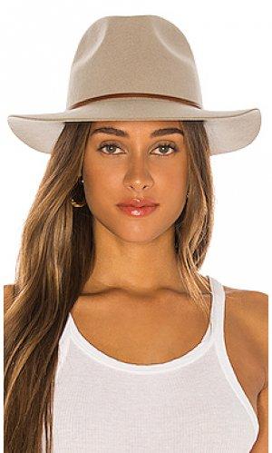 Шляпа федора wesley Brixton. Цвет: серый