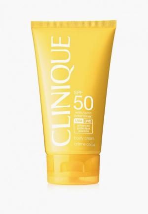 Крем солнцезащитный Clinique Body Cream SPF 50, 150 мл. Цвет: прозрачный