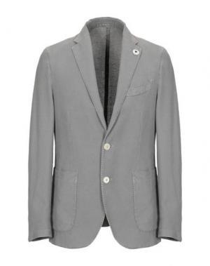 Пиджак FRADI. Цвет: голубиный серый