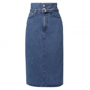 Джинсовая юбка Rag&Bone. Цвет: синий