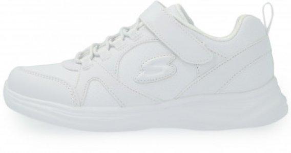 Кроссовки для девочек Glimmer Kicks School Struts, размер 31.5 Skechers. Цвет: белый