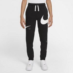 Флисовые брюки для мальчиков школьного возраста Sportswear Swoosh - Черный Nike