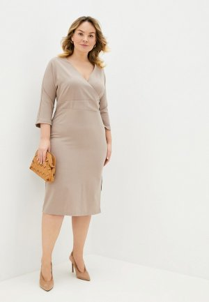 Платье Lacy. Цвет: бежевый