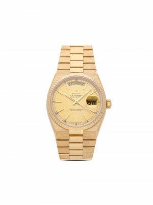 Наручные часы Oyster Day-Date pre-owned 36 мм 1978-го года Rolex. Цвет: золотистый