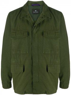 Куртка в стиле милитари PS Paul Smith. Цвет: зеленый
