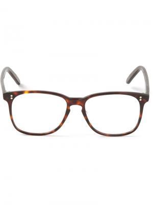 Очки в оправе wayfarer Cutler & Gross. Цвет: коричневый