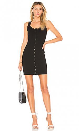 Платье на пуговицах luella by the way.. Цвет: черный