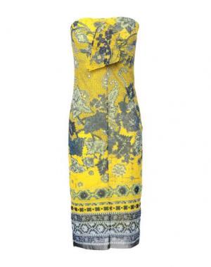 Платье до колена FUZZI. Цвет: охра