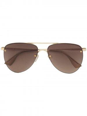 Солнцезащитные очки-авиаторы Prince Le Specs. Цвет: золотистый