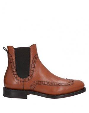 Полусапоги и высокие ботинки FABI. Цвет: желто-коричневый