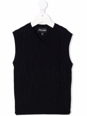 Fine knit vest Emporio Armani Kids. Цвет: синий