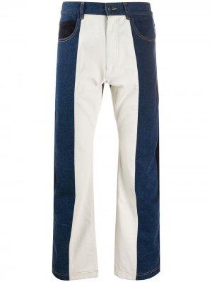 Широкие джинсы в стиле колор-блок GR-Uniforma. Цвет: синий
