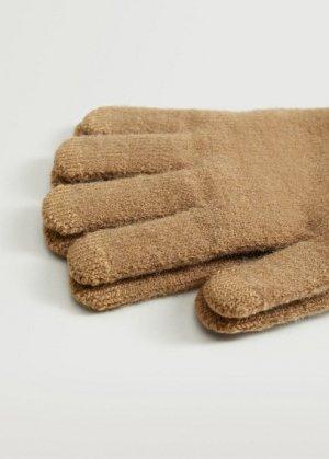 Сенсорные перчатки из трикотажа - Touch Mango. Цвет: коричневый средний