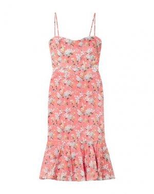 Платье до колена J.CREW. Цвет: лососево-розовый