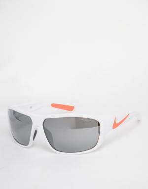 Белые солнцезащитные очки EVO781-106 Nike. Цвет: белый