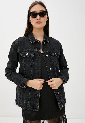 Куртка джинсовая DeFacto. Цвет: черный