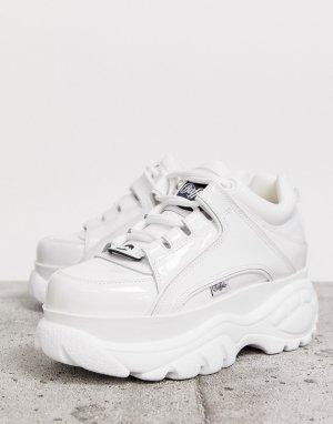 Белые классические лакированные низкие кроссовки London-Белый Buffalo