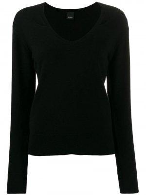 Пуловер с длинными рукавами Pinko. Цвет: черный