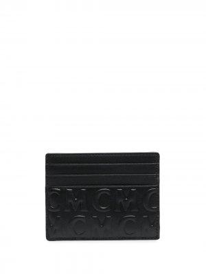 Картхолдер с тисненой монограммой MCM. Цвет: черный