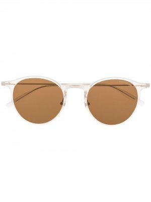 Солнцезащитные очки в прозрачной оправе Montblanc. Цвет: нейтральные цвета