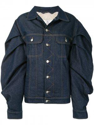 Джинсовая куртка с объемными рукавами Natasha Zinko. Цвет: синий