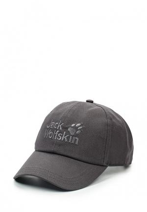Бейсболка Jack Wolfskin BASEBALL CAP. Цвет: серый