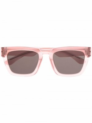 Солнцезащитные очки в квадратной оправе из коллаборации с Maison Margiela Mykita. Цвет: розовый
