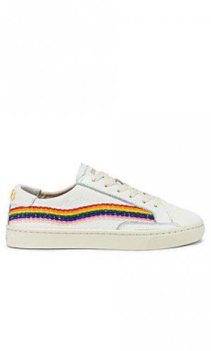 Кроссовки rainbow wave Soludos. Цвет: белый