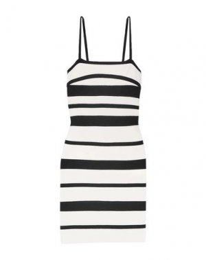 Короткое платье HERVÉ LÉGER. Цвет: белый